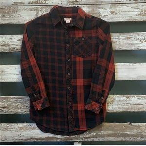 Mossimo Black/Red Checkered Shirt